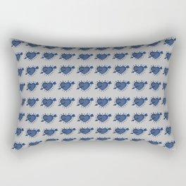 denim hearts Rectangular Pillow