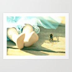 Alice's Escapades ~ Alice & The Chair III Art Print