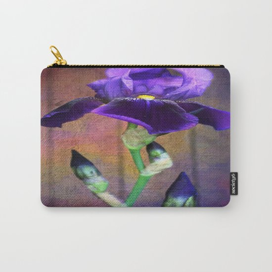 Sweet Purple Iris Carry-All Pouch