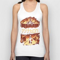 monty python Tank Tops featuring Attack on Python by Dave Collinson