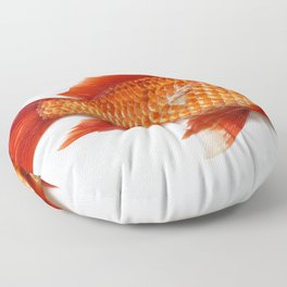 Red Gold Fish Floor Pillow