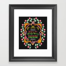 Rescue Me Framed Art Print