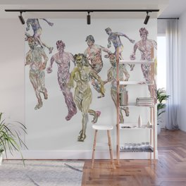 Naked Runners 2 Wall Mural