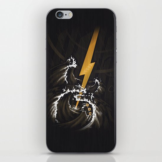 Electric Guitar Storm iPhone & iPod Skin
