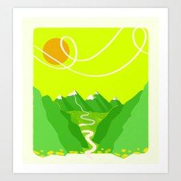 Minimalist Mountains Art Print