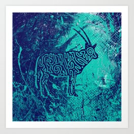Arabian Oryx design Art Print