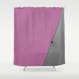 solitude in mauve Shower Curtain