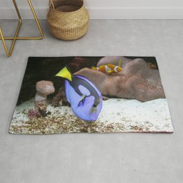 Coral Reef and Fish Rug