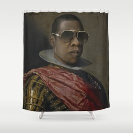 Portrait of Jay Z in Armor Shower Curtain