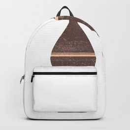 Greek Pottery 26 - Alabastron - Terracotta Series - Modern, Contemporary, Minimal Abstract - Brown Backpack