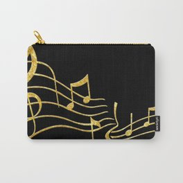 Gold Metallic Music Symbols Carry-All Pouch