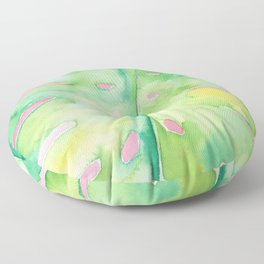palm on pink Floor Pillow