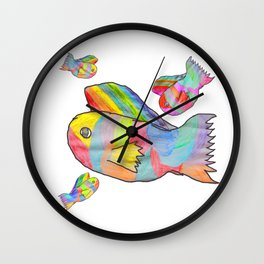 Rainbow fish by Elisavet | colorful #society6 Wall Clock