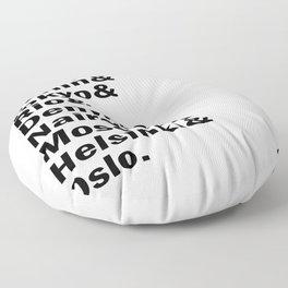 Money Heist /  La casa de papel squad. (version 2, in white) Floor Pillow