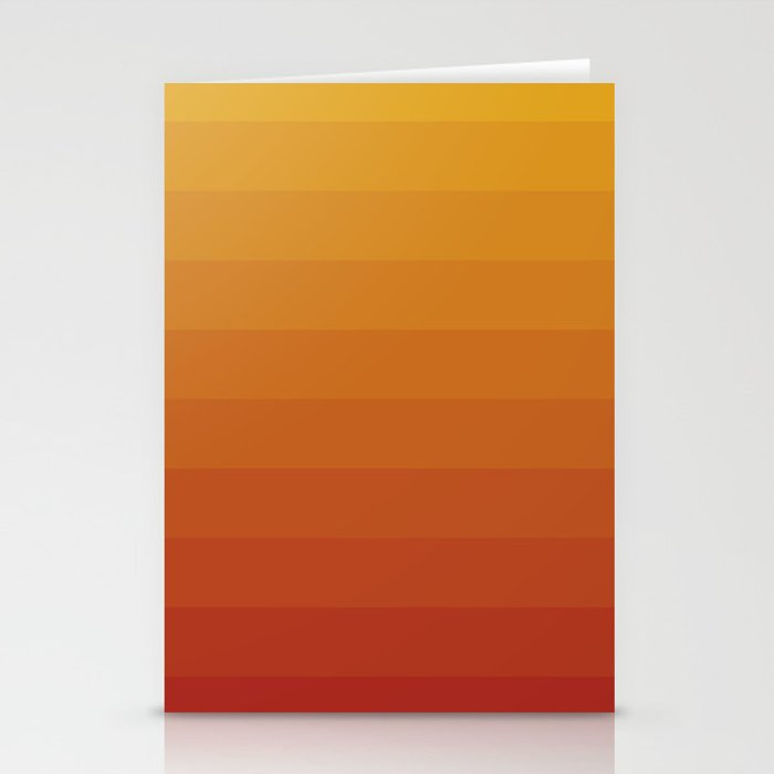 Gradient, Yellow Red Stationery Cards
