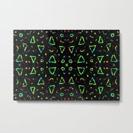 Abstract geometrical shape vivid color pattern Metal Print