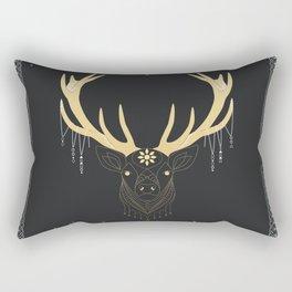 Midnight Moon Golden Stag Rectangular Pillow