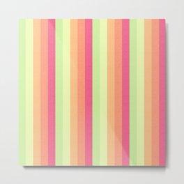 Melon Ball Striped Pattern Metal Print