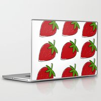 strawberry Laptop & iPad Skins featuring StrawBerry by neken
