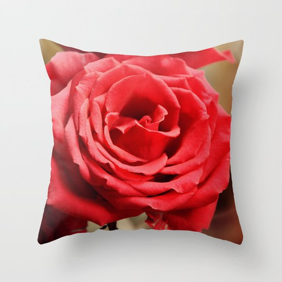Romantic Roses and Light spots Throw Pillow