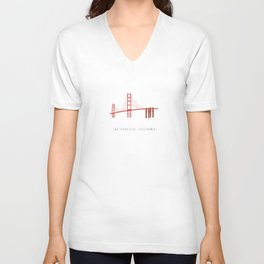 Golden Gate Bridge, San Francisco, California Unisex V-Neck