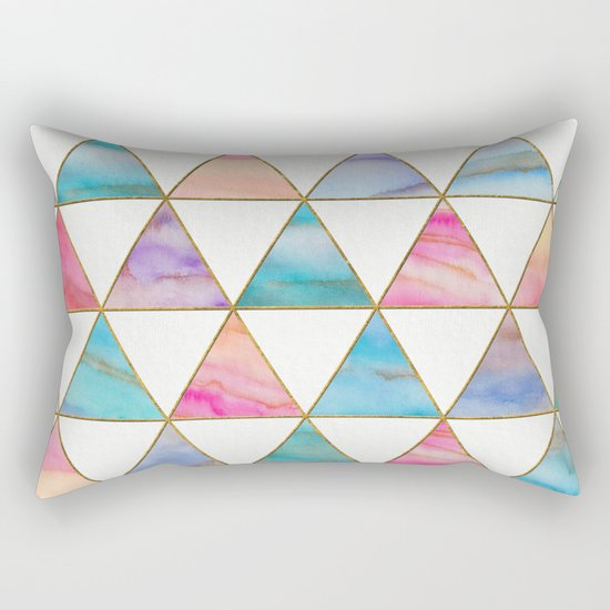 Marble Triangles Pattern Rectangular Pillow