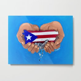 Helping Hands for Puerto Rico Metal Print