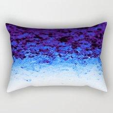 Indigo Blue Ombre Crystals Rectangular Pillow