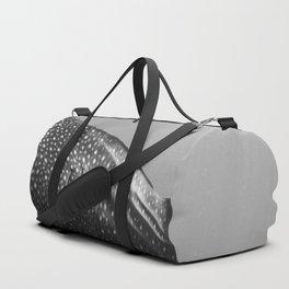 Whale shark black white Duffle Bag
