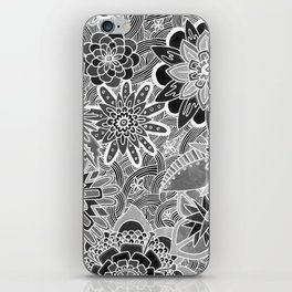 Chalkboard Flowers (Night Version) iPhone Skin