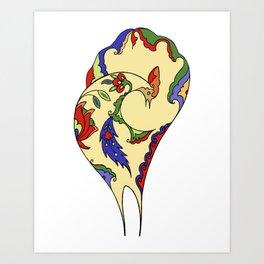 Bird and Flower Art Print