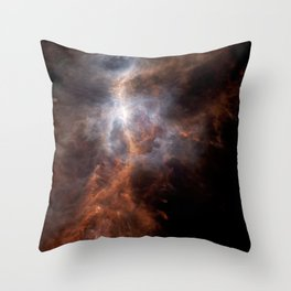 the hunter becomes fire   space #08 Throw Pillow
