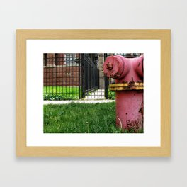 Rusty Hydrant Square Framed Art Print