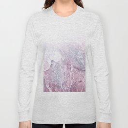Sea Dream Marble - Rose and white Long Sleeve T-shirt