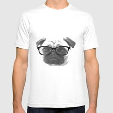 Pugster Mens Fitted Tee White MEDIUM
