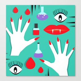 Halloween makeup II Canvas Print