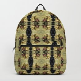 wildflower bouquet, yellow pattern Backpack