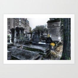 Mourning in Paris Art Print