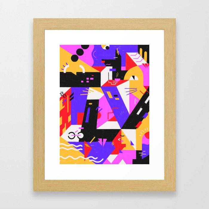 Multi-dimensional city Framed Art Print