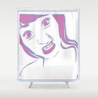 cheese Shower Curtains featuring Cheese 3D by kaniatobe13