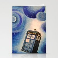 tardis Stationery Cards featuring TARDIS by Colunga-Art