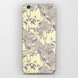 just goats purple cream iPhone Skin