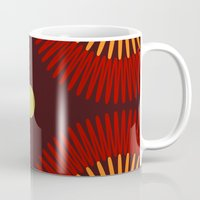 brown Mugs featuring brown by sustici