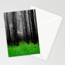 Firefly-green Stationery Cards
