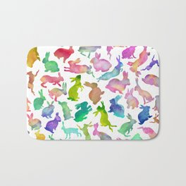 Watercolour Bunnies Bath Mat