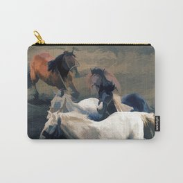 Breaking Away   -  Wild Horses Carry-All Pouch