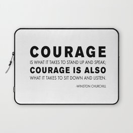 Courage quote - Winston Churchill Laptop Sleeve