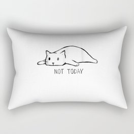 Not Today Crazy Cat T Shirts Graphic Cute Funny Rectangular Pillow