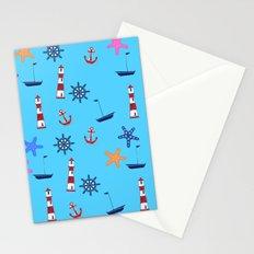 Nautical Beach Pattern Stationery Cards