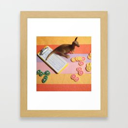 The Kangaroo & The Fruit Inventory Framed Art Print